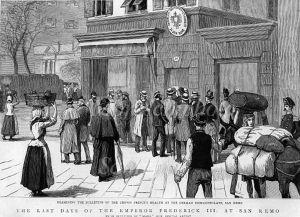 Federico Guglielmo in partenza dalla stazione..(Disegno Studio Moreschi)