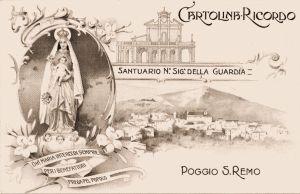 Postcard of the Madonna della Guardia of 1910