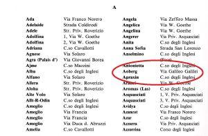 """Elenco delle ville da """"I Favolosi Anni Trenta"""" di Fabiano Scalabrini"""