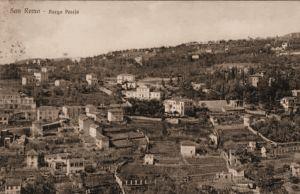 Panoramica della collina con la Villa