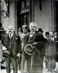 Il Primo Ministro Francesco Saverio Nitti alla Stazione di Sanremo